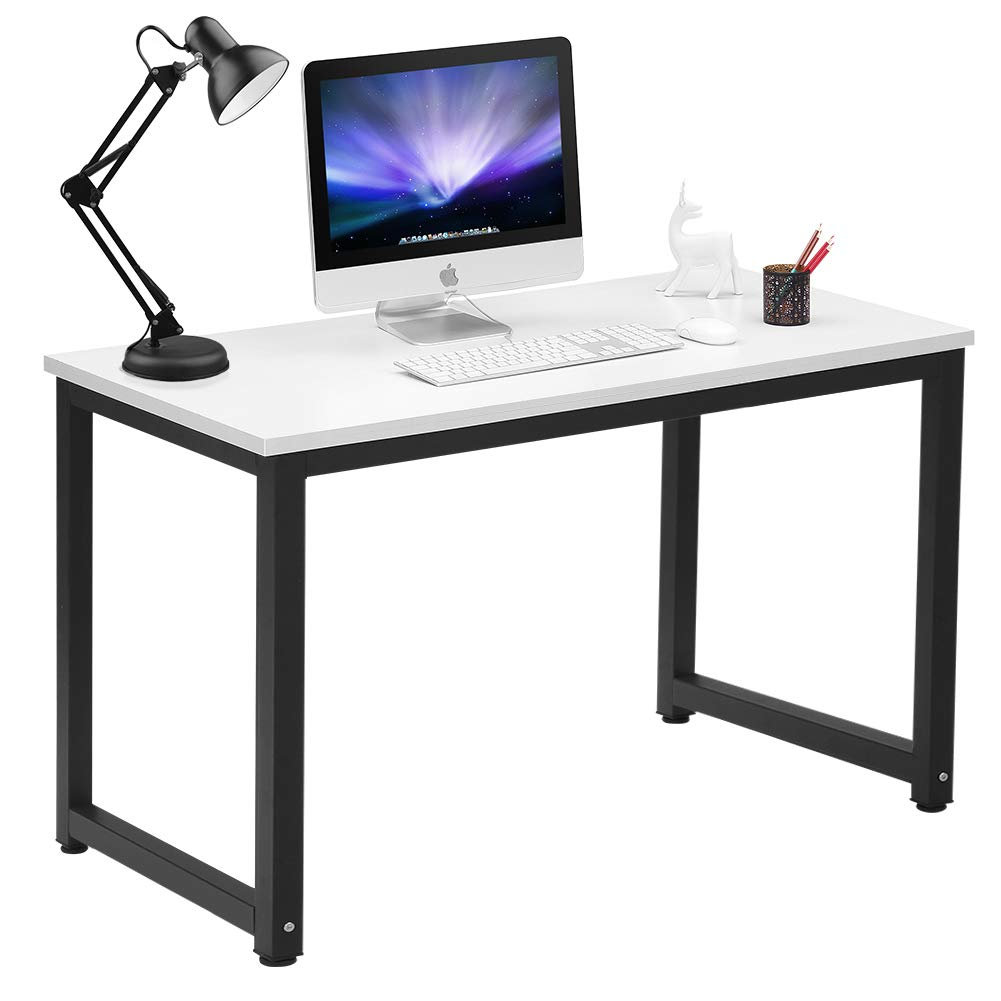 Coleshome Computer Desk 47'' Writing Study Office Table White