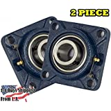 2 PIECE- 5/8 inch 4 Bolts Pillow Block Flange Bearing,UCF202-10,Self-Alignment, Brand New