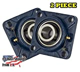 2 Pieces- UCF210-32, 2 inch 4 Bolts Pillow Block Flange Bearing, Self-Alignment, Brand New