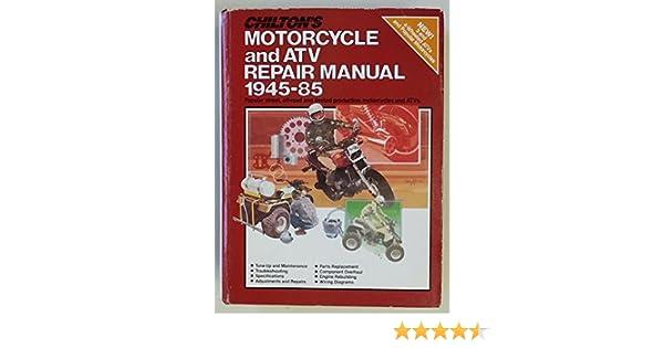 chilton s motorcycle and atv repair manual 1945 85 the nichols rh amazon com Ford Truck Chilton Repair Manual Auto Repair Manuals PDF