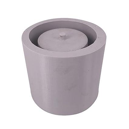 Ausomely Moldes de Silicona 3D - Cemento Redondo Maceta, Plantas suculentas Macetas de hormigón Manualidades