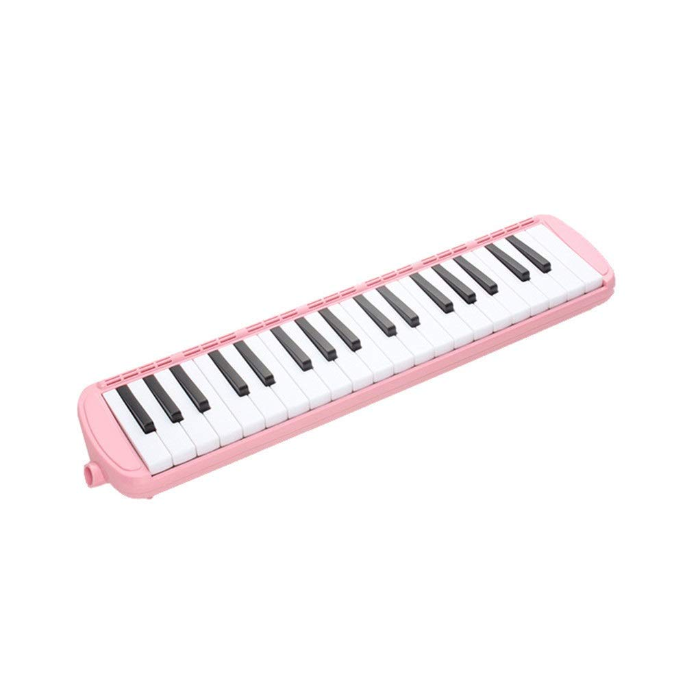 Melodica Musical Instrument 37 Keys Kids Musical Piano Melodica Instrument Gift Toy Pianica Melodica For Music Lovers Beginners Portable With Mouthpieces Tube Sets Carrying Bag Pink Blue for Music Lov by Shirleyle-MU (Image #2)