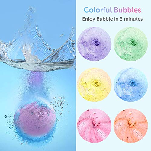 Bath Bombs, Abody 14PCS Bath Bomb Gift Set for Women Kids with Rose Petals and Bath Sponge, Made in Vegan Essential Oils, Coconut Oil, Shea Butter for Moisturizing Skin and Fizzy Spa