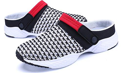 Hommes Maille De Sabots Pantoufles Noir Sandales Respirant Jardin Plage D'été Sur L'extérieur Femmes Avec Chaussures Gaatpot gqxrYgH