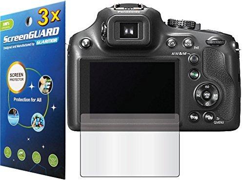 GuarmorShield 3x Panasonic Lumix DMC-FZ70 DMC-FZ72 Digital Camera Premium Clear LCD Screen Protector Guard Shield Kit (NO CUTTING, GUARMOR Brand)