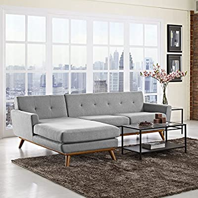 LexMod Engage Left-Facing Sectional Sofa
