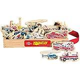 T.S. Shure Emergency Vehicles Wooden Magnets 20 Piece MagnaFun Set