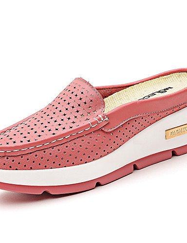 Casual 5 cn40 Rosa Zapatos Amarillo gyht pink 5 cn40 Plataforma Cuero Vestido ZQ y uk6 uk6 us8 Oficina Comfort eu39 5 Mocasines us8 mujer eu39 uk6 5 cn40 de white eu39 Blanco Trabajo us8 5 5 pink qf5BP