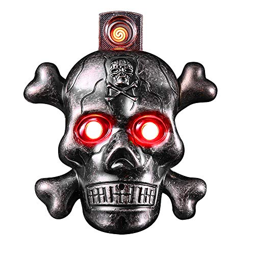 (Skull Electric Cigarette Lighter, Unique Windproof Flameless USB Rechargeable Lighter with LED Light and Creepy Background Sound, Perfect Gift Idea for Halloween, Christmas, Business and)