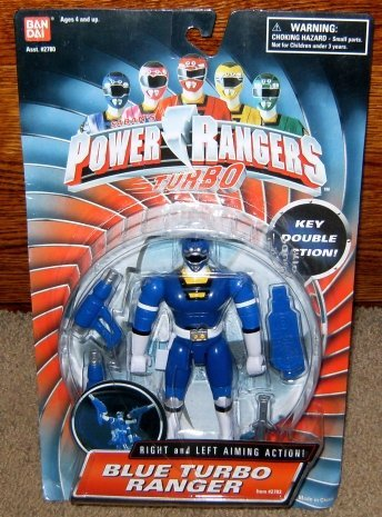 "Power Rangers Blue Turbo Ranger Double Key 5.5"" Action Figure"