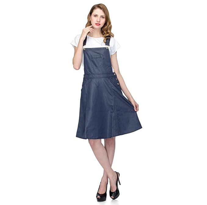 durable modeling professional website variety design 18 to Eighty's. Women's Solid Stylish for Dungaree Dress ...