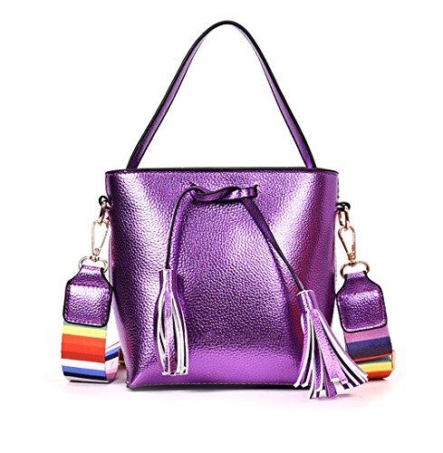 de bandolera mano clutches de bolsos hombro Carteras Bolsos Shoppers y Mujer Púrpura y Wqt1fnYwna