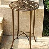 International Caravan Mandalay 15″ Wrought Iron Table in Bronze Review