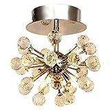 Cheap Lightess Crystal Chandelier Flush Mount Ceiling Light Modern Mini Ball Globe Shape Lighting Fixtures with 6 Lights, DY-A12