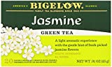 Bigelow Green Tea with Jasmine 20 Bags (Pack of 6), Premium Bagged Jasmine Scented Green Tea, Antioxidant-Rich All Natural Medium-Caffeine Tea in Individual Foil-Wrapped Bags