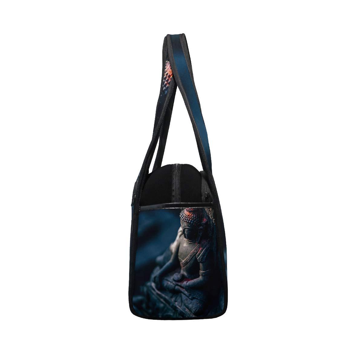Buddha Statue Women Sports Gym Totes Bag Multi-Function Nylon Travel Shoulder Bag