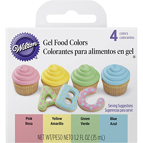Wilton Gel Food Color Set, Primary Colors Pack (Set of 4)