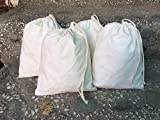 12x16 inches Muslin Cotton Premium Quality Bags, Art and Craft Bags Thicker Fabric and Drawstring *Durable* Pack of 25