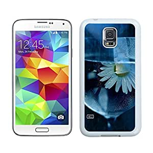 BINGO best retail Daisy, Flower, Glass, Water Samsung Galaxy S5 Case White Cover
