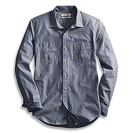 Amazon Brand – Amazon Brand – Goodthreads Men's Slim-Fit Long-Sleeve Chambray Shirt