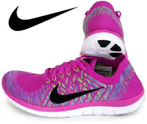 a412f64b6450 Galleon - Nike Free 4.0 Flyknit Women s Running Shoes 6.5 FUCHSIA FLASH  ALUMINUM PERSIAN VIOLET BLACK