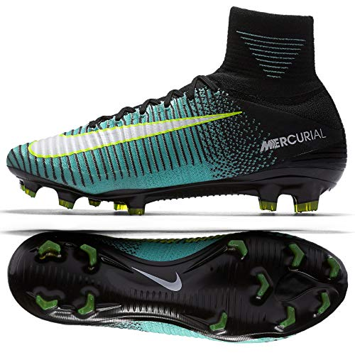 Mercurial V Aqua Noir Blanc Volt Fit Dynamic Superfly Femme light Nike Fg Oqfpd7q