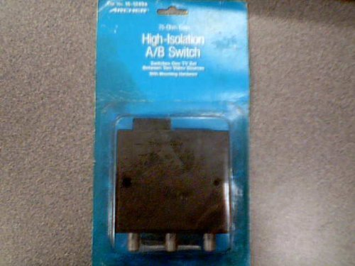 Tandy Corporation Tandy Radio Shack Archer 75-Ohm Coax High-Isolation A/B Switch Cat. No. 15-1249A Archer Antenna/Cable Switch (Switches One TV Set Between Two Video SOurces with Mounting Hardware)