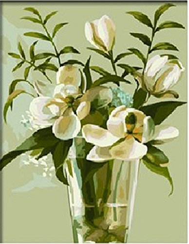 Colour Talk Diy oil painting, paint by number kit- Magnolia 1620 inch. by Colour Talk