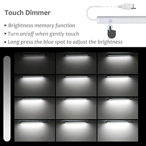 ASOKO-Dimmable-LED-Under-Cabinet-Lighting-with-Built-in-MagnetsSoft-White-Angle-Adjustable-LED-USB-Powered-Portable-Light-Bar-for-Under-CounterBookcaseCloset