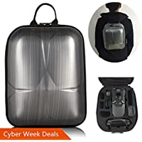 DJI Mavic Pro Hard Shell Backpack Case ,Upgraded Most Compact (13.8x10.6x6.5 only & Could Carry extra 3 Batteries ) Waterproof Anti-Shock PC Carrying Bag (Mini Backpack for Mavic(Black))