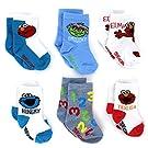 Sesame Street Baby 6 pk Socks (6-12M, Grouchy Ticklish Hungry Crew)