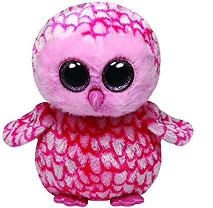 12b26e17955 Image Unavailable. Image not available for. Color  Ty Beanie Boos Buddies  Pinky Pink Barn Owl Medium Plush