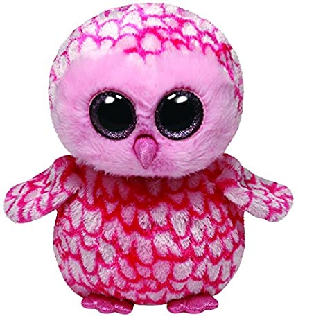 01cf56cb838 Image Unavailable. Image not available for. Color  Ty Beanie Boos Buddies  Pinky Pink Barn Owl Medium Plush