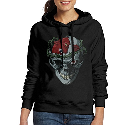 LOYRA Women's Berserk Skull Hooded Sweatshirt Size XXL Black