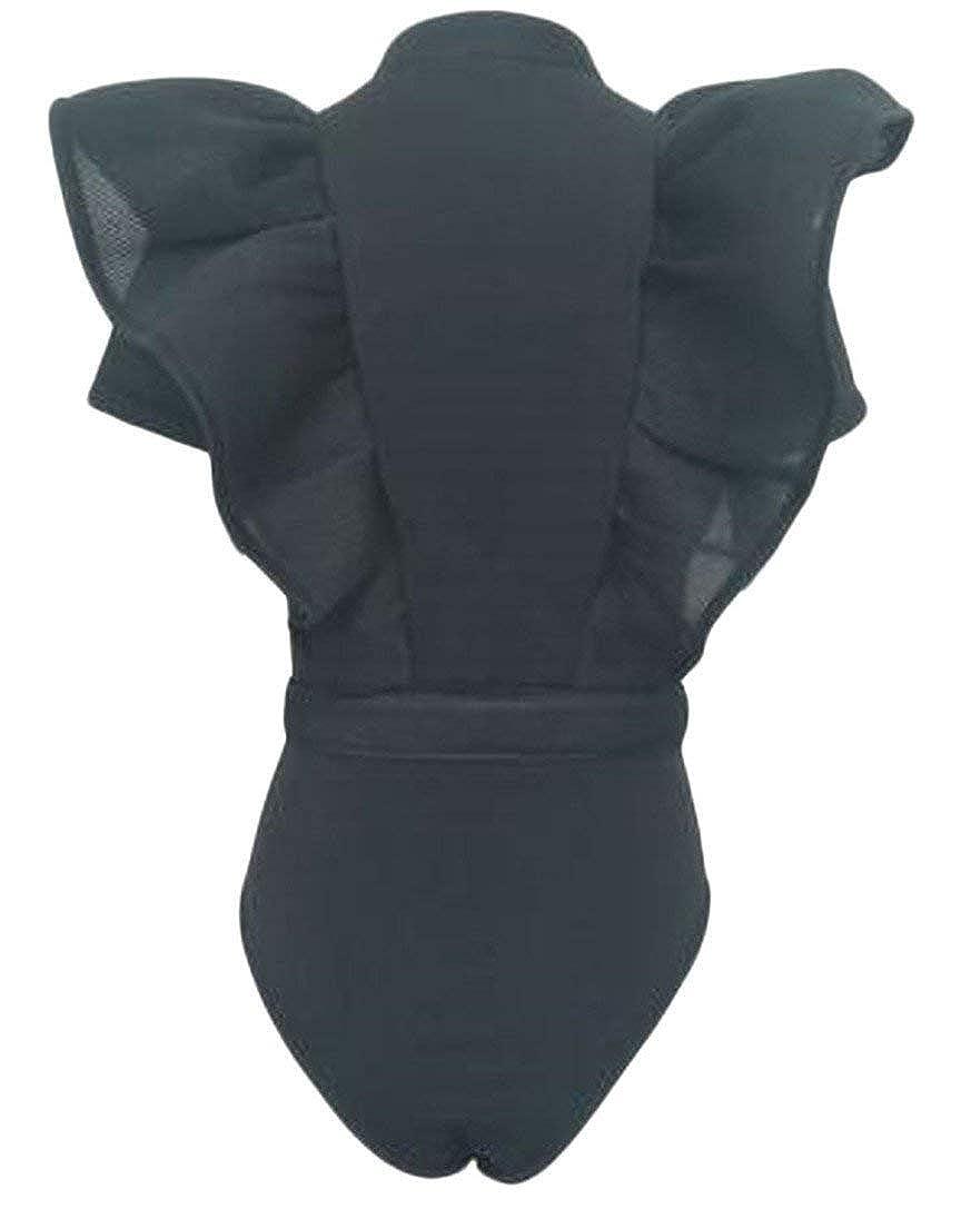 Joe Wenko Women Backless Printed Stretch Spaghetti Strap Bodysuit Jumpsuits