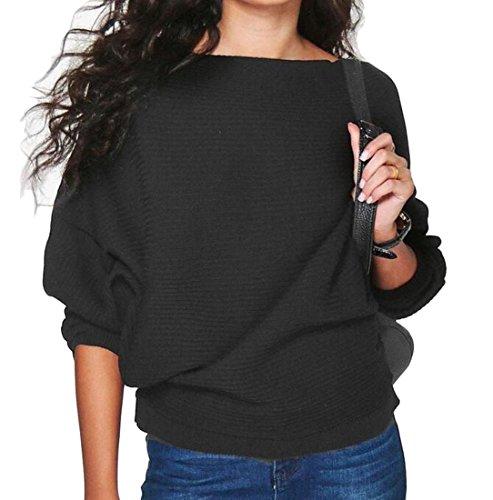 Color Casual Loose Long Black Winter Sweatshirt Fall Generic Sleeve Solid Womens a6P0wwZ