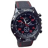 Zaidern Men Luxury Watches Military Watch Sport Wristwatch Silicone Strap Fashion Hours Analog Quartz Watch Classical Retro Design Wrist Watches