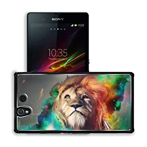Artwork Lions Fire Body Artwork Sony Xperia Z 5.0 C6603 C6602 Snap Cover Premium Aluminium Design Back Plate Case Customized Made to Order Support Ready 5 4/8 inch (140mm) x 2 7/8 inch (73mm) x 7/16 inch (11mm) MSD Sony Xperia Z cover Professional Metal C wangjiang maoyi