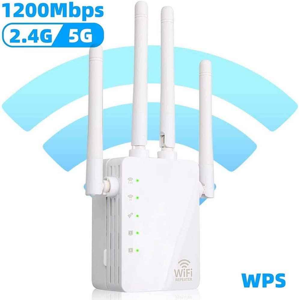 Wireless Signal Repeater Booster Extend WiFi Signal to Smart Home ...