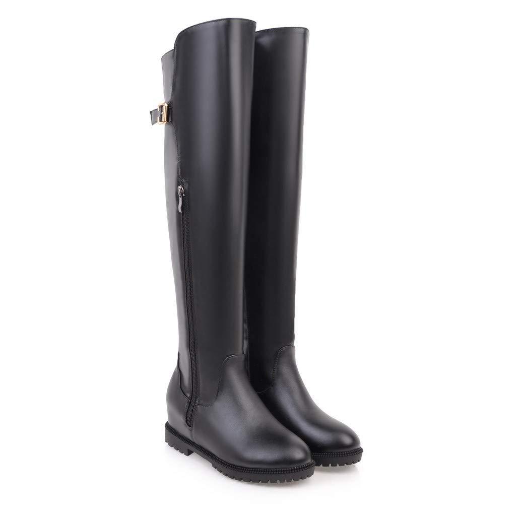Interne Erhöhung der Frauen hoch über dem Knie Lange Stiefel Stiefel Stiefel 4ca6d1
