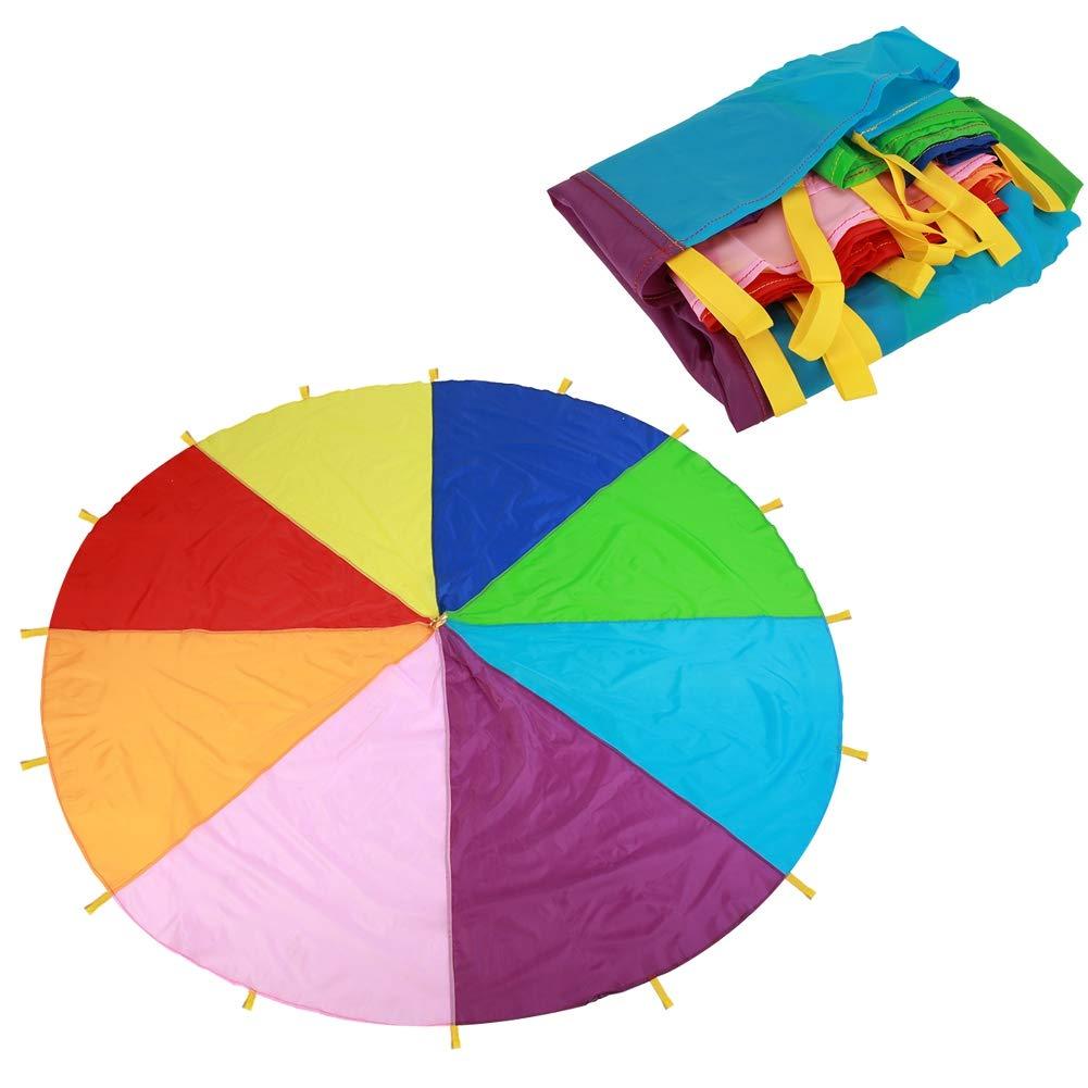 3m Tenda per paracadute Gioco per bambini Gioco per bambini Gioco per bambini multicolore Paracadute arcobaleno Gioco allaperto Coperta per picnic al coperto e allaperto Stuoie Attivit/à sportive