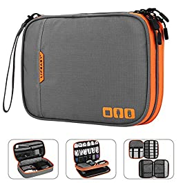 Acoki Portable Electronic Accessories Travel case,Cable Organizer Bag Gadget Carry Bag for iPad,Cables,Power,USB Flash Drive, Charger
