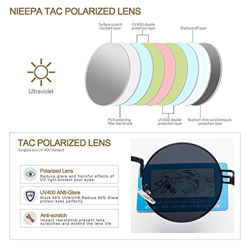 7702aa5bd6c671 ... Steampunk Round Polarized Sunglasses Retro Vintage Circle Spring Style  Frame Metal Hippie Sun Glasses for Men