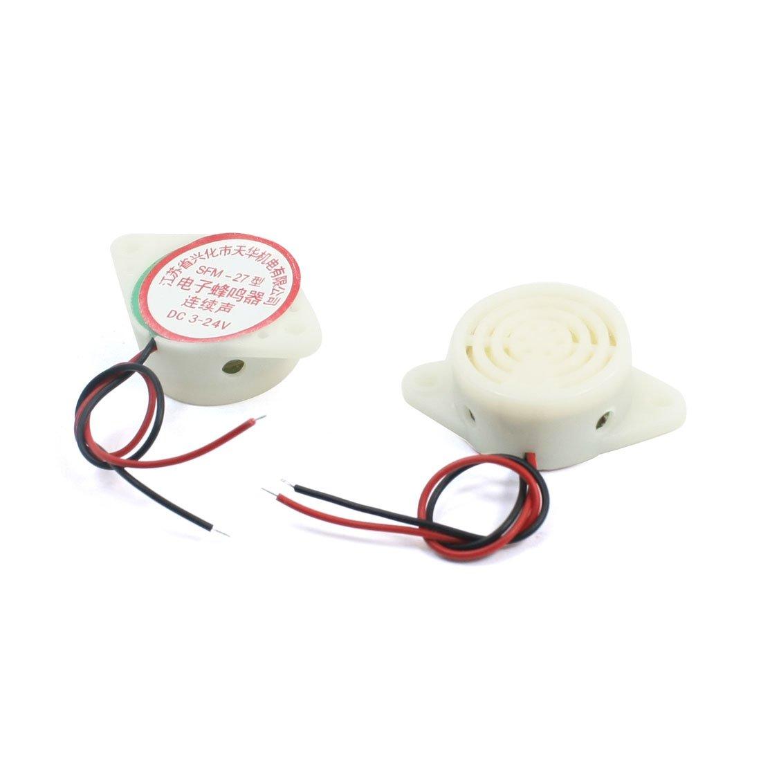 Aexit 2Pcs DC Relays 3-24V SFM-27 Continous Beep Piezo Active Warning Buzzer /& Chime Electronic Buzzer