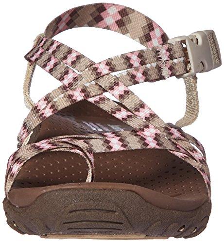 MNT Reggae Women's Tie Dye Skechers Loopy US Sandal Natural qIgg5Fd