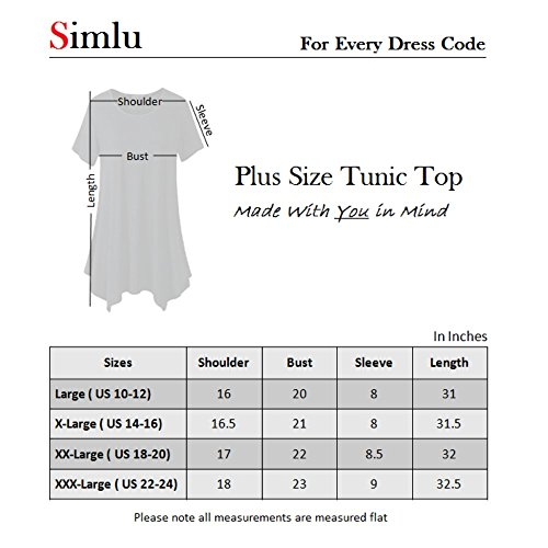 43843c96bb7639 Womens Plus Size Short Sleeve Tunic Tops for Leggings -USA - Buy Online in  Oman. | Apparel Products in Oman - See Prices, Reviews and Free Delivery in  ...