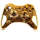 HDE Xbox 360 Wireless Controller Shell Buttons Thumbsticks Replacement Case Custom Cover Kit - Chrome Gold