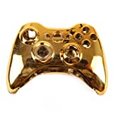 HDE XBOX 360 Wireless Controller Shell Replacement Buttons Thumbsticks Custom Cover Case Kit - Chrome Gold