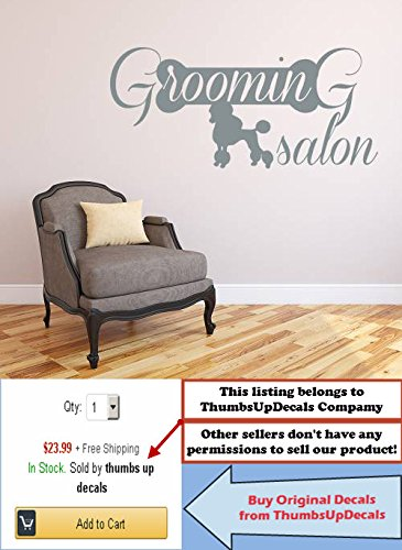Wall Decals Domestic Animals Decal Dog Poodle Vinyl Sticker Home Decor Design Veterinary Shop Grooming Salon Murals aa219 (Animal Design Shop Stickers)