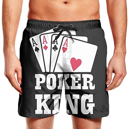 sndks Men's Summer Casual Quick-Drying Board Short Poker King Swim Trunks